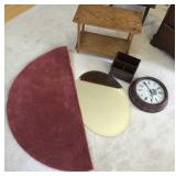 Table, Clock, Rug, Oval Mirror and more