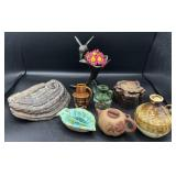 Collection of Pottery, Tree Tumor Art and more