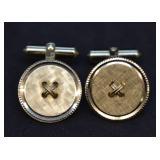 Christian Dior 12k Gold Filled Button Cufflinks