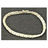 Vintage ITALY UNISEX Sterling Silver Bracelet
