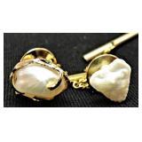 Custom 14K Gold TENNESSEE Pearl Tie Tacs
