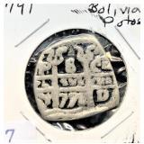 1791 BOLIVIA SHIPWRECK POTOSI MINT