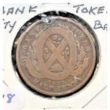 1837 CANADA  BANK TOKEN HALF PENNY