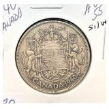 1940 CANADA 50 CENTS