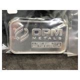 OPM METALS - 1 OZ SILVER BAR