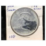 2012 CANADA MAPLE LEAF $5 - 1 OZ SILVER