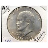 1976 - S EISENHOWER $1 - SILVER