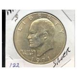 1971 - S EISENHOWER $1 - SILVER
