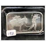 SILVER TOWNE MINER - 1 OZ SILVER BAR