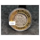 1995 GRAND CASINO TOKEN MARDIS G .999 Fine Silver