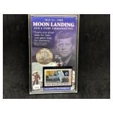1969-D KENNEDY HALF DOLLAR - MOON LANDING - TONER