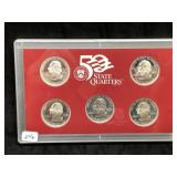 2000 US MINT STATE QUARTER SILVER PROOF SET