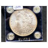 1885 MORGAN SILVER DOLLAR - BEAUTIFUL TONED EDGES