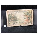 1956 VIETNAM 20 DONG Bank Note Asian Paper Money