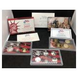 2007 US MINT SILVER PROOF SET - 14 COIN SET