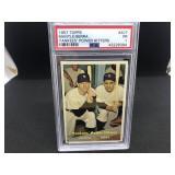 1957 Topps 407 Berra/Mantle Yankees