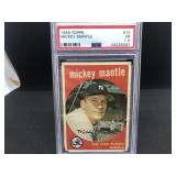 1959 Topps 10 Mickey Mantle PSA F-1.5