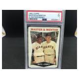 1960 Topps 7 Master & Mentor W.Mays/B.Rigney PSA P