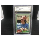 1982 Topps 180 Pete Rose Mint MT-9