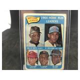 1965 Topps 4 1964 Home Run Leaders Willie Mays…..