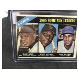 1966 Topps 217 1965 Home run Leadrs Willey Mays…..