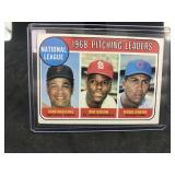 1969 Topps 10 1968 Pitchung Leaders Bob Gibson….