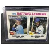 1977 Topps 1 1976 Batting Leaders George Brett…...