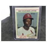 1978 Topps 1  Lou Brock 77 Record Breaker