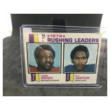 1973 Topps 1 1972 NFL Rushing Leaders O.J. Simpson
