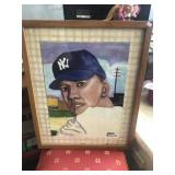 Hand Painted Mickey Mantle