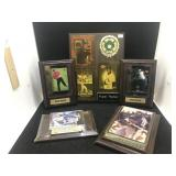 5 Sports cards Plaques, Tiger Woods, Jerry Rice,