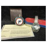 Miami Dolphin Pocket Watch and wrist watch