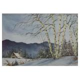 Larry Burton Winter Landscape Watercolor