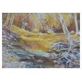 D. Burks Woodland Landscape Gouache on Paper
