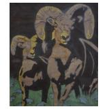 1978 Sallie & Walt Carlson Big Horn Sheep Batik