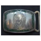 ca. 1924 Sterling Silver Wadsworth Belt Buckle