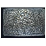 Antique F. Chiappe Coin Silver Calling Card Box