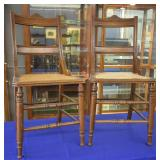 Pair of Antique Cane Bottom Chairs