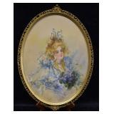 Henriette Dunn Mears Watercolor & Gouache Portrait