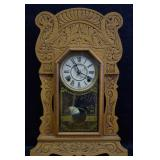 ca. 1900 Gingerbread Mantle Clock