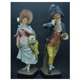 ca. 1900 Austrian Cold Painted Terracotta Figures