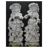 ca. 1900 Carl Schneider German Porcelain Figures