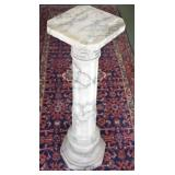 Antique Marble Column Pedestal