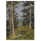 1986 Ivadene Ricketts Smokey Mountains Watercolor