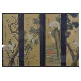Original Framed Asian Silk Scroll Paintings