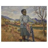 Dabson Njobvu Child Walking a Bike O/C
