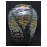 Richard Satava Signed Art Glass Vase 4594-97