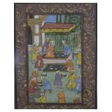 Hand Painted Indian Market Scene Miniature