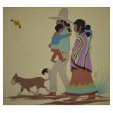 R. Chee Navajo Artist Gouache Painting