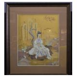 S. Campbell Signed Chinese-style Woodblock Print